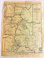 Vintage Map 1926 Yellowstone National Park by J.E. Haynes - 12 x 9 inches