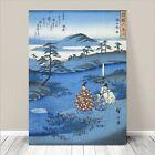 "Beautiful Japanese Landscape Art ~ CANVAS PRINT 18x12"" HIROSHIGE Noji"
