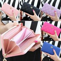 Fashion Women Crown Leather Wallet Long Zipper Card Phone Holder Clutch Purse US