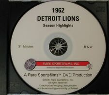 """1962 Detroit Lions Highlights & famous """"T'Giving Day Game vs Packers now on DVD!"""