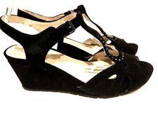 sz 41 /10 TS TAKING SHAPE Ashley Wedge Suede  leather Peep Toe  Shoes NIB