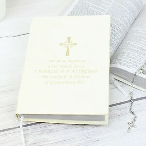 Personalised Holy Bible Christening Baptism Confirmation Holy Communion Gift
