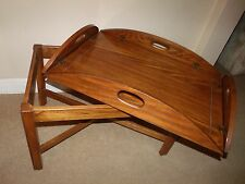 Pennsylvania House Wood 2pc Butler Tray Coffee Table removable tray