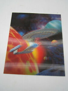 "Lenticular Post Card Promo Star Trek U.S.S. Enterprise 1701-D TNG 7.5 x 9"""