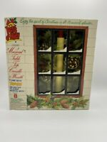 NEW RARE CAROLITES BELLS OF NOEL LIGHTED MUSICAL TABLE TOP CANDLE & WREATH
