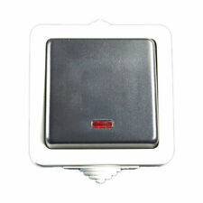 Feuchtraum Aufputz Kontrollschalter  Lichtgrau//grau IP44 #35