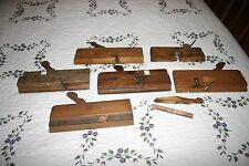 Antique Primitive Woodworking Wood Molding Hand Plane Tool Lot of 6