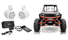 Boss Audio 500w 4-Ch Amplifier+Bluetooth+2) Speakers For Polaris/ATV/UTVRZR/CART