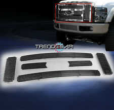 2008 2009 2010 FORD F250 F350 F450 F550 SUPER DUTY SD UPPER BILLET GRILLE 6PCS