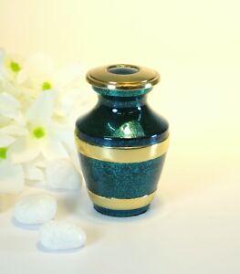 Mottled Aquamarine Keepsake Cremation Urn