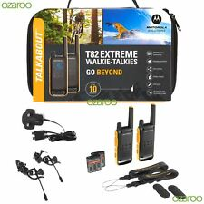 2x Motorola T82 extreme talkie walkie PMR 446 Radio Twin Pack IPX4 Rechargeable