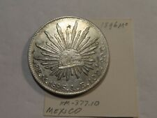 D126 Mexico 1896-Mo 8 Reales w/ Small Chinese Chop Marks