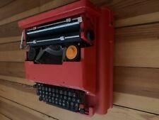 Vintage Olivetti Valentine Red Typewriter w/Original Case
