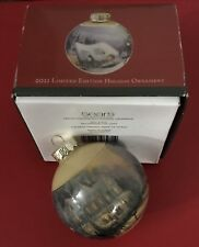 "Thomas Kinkade ""Painter of Light"" 2011 Christmas Ball Ornament Sears Ltd Edt"