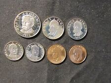 Lot of 7 1977 Panama Centesimo Proof Coins - 25, 2x 10, 2x5, and 2x 1