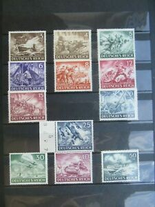 12 German Reich stamps - WW2 - Mint condition