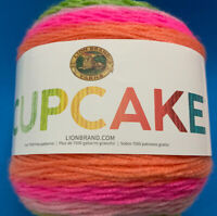 Lion Brand Yarn Cupcake Yarn, Spring Break, 590 yds, Light weight (3), Acrylic