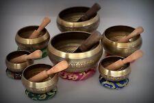 ALL SIZE SINGING BOWL CHAKRA SET 7 Tibetan Hand Bitten Chakra,Healing,Meditation
