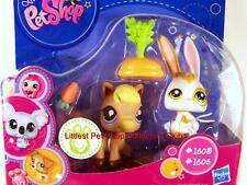 Littlest Pet Shop Walmart Excl. HORSE & BUNNY lot #1605 & #1606 Rare Retired NIB