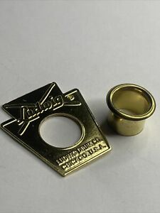 Ludwig 60's Keystone Drum Badge -Repro With Correct QUALITY BRASS 3ply Vent