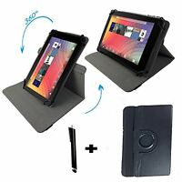 """Lenovo Tab2 A10-30 - 10.1 inch Tablet PU Leather Case Cover - 360 10.1"""" Black"""