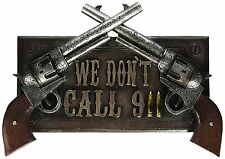 Resin Pistol Sign Plaque Decor Guns Wall Hanging Entrance Outdoor Man Cave New