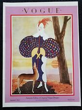 Vogue Fashion Magazine Cover Poster Print Woman With Deer 9/1/24 Art Deco Autumn