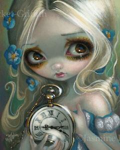 Jasmine Becket-Griffith alice in wonderland art print SIGNED Keeping Up