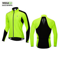 WOSAWE Cycling Jacket Thermal Fleece Winter Warm Coat Riding Bike Bicycle Jersey