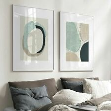 Dot Abstract Line Color Block Poster Wall Art Canvas Painting Nordic Posters