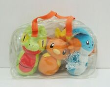 "Treecko Torchic Mudkip 3 Set Bag Pin Bowling 8"" Plush 2004 Toy Doll Japan"