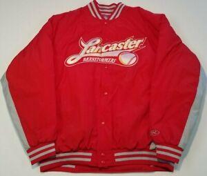 LANCASTER BARNSTORMERS Rawlings Bullpen Jacket XL Atlantic League