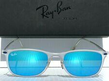 NEW Ray Ban RB 4225 646/55 Clear transparent Wayfarer Blue Sapphire Sunglasses