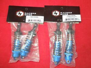 TRAXXAS SLASH BLUE ALUMINUM Front + Rear ADJUSTABLE SHOCK SET 4X4 2WD 4WD SHOCKS