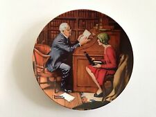 """""""The Professor"""" Knowles Tenth 10th Collector Plate 1986 Norman Rockwell Heritage"""