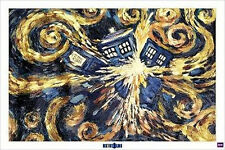 *NEW* Dr Doctor Who Exploding Tardis Vincent Van Gogh Style Wall Poster 61 x 91