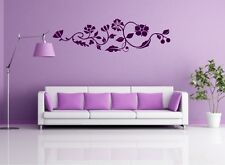 WANDTATTOO XXL Ranke Hibiscus Blumen Bordüre Wandaufkleber Sticker #CFL-000