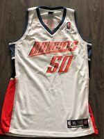 Auth Vintage Emeka Okafor #50 Charlotte Bobcats NBA Reebok Jersey SZ XL Swingman