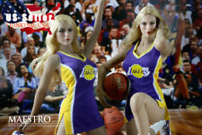 """1/6 NBA Lakers Cheerleader Suit Set Purple For 12"""" PHICEN Hot Toys Figure ❶USA❶"""