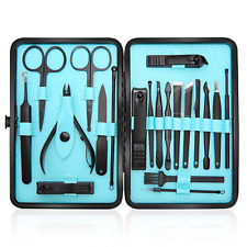 Professional Manicure Pedicure Set Nail Clippers Kit Stainless Steel Portable