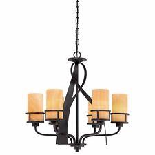 Chandelier Lapide Yellow Black 6-flammig Adjustable Rustic Dining Room Lamp