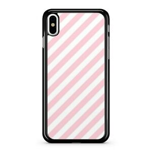 Magnificent Pretty Pink Wonderful Lush White Stripes Pattern 2D Phone Case Cover
