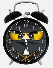 "Lego Ninjago Ninja Alarm Desk Clock 3.75"" Home or Office Decor Z20 Nice For Gift"