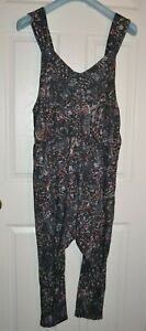 Free People FP Movement High Tide Jumpsuit Jumper One Piece Black Printed NWT
