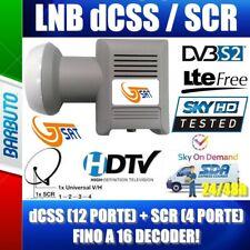 ILLUMINATORE LNB dCSS/QUAD SCR 16 CANALI, COMPATIBILE SKY-Q, 4K, TIVUSAT GTSAT