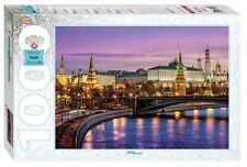 Russia Moscow View Kremlin Embankmen Famous Architecture Building Puzzle 1000p