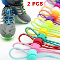 1Pair Elastic Stretching Locking Shoe Laces Sneakers Fashion Shoestrings New
