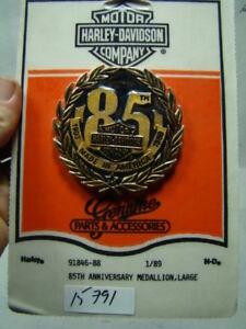 85th Anniversary emblem 91846-88 Harley sissy bar battery cover NOS FXR EPS15791