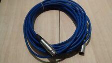 XLR - Profi DJ  Mikrofon Kabel 10m Mikro Cable XLR Male Blau