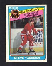 1984-85 OPC STEVE YZERMAN #385 SCORING LEADER NRMT (REF 3317)